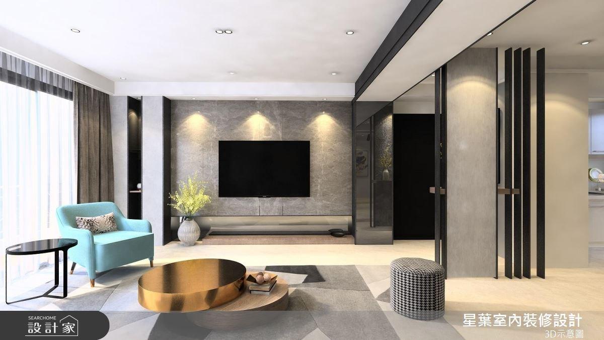 41坪老屋(16~30年)_現代風客廳案例圖片_星葉室內裝修設計_星葉_25之1