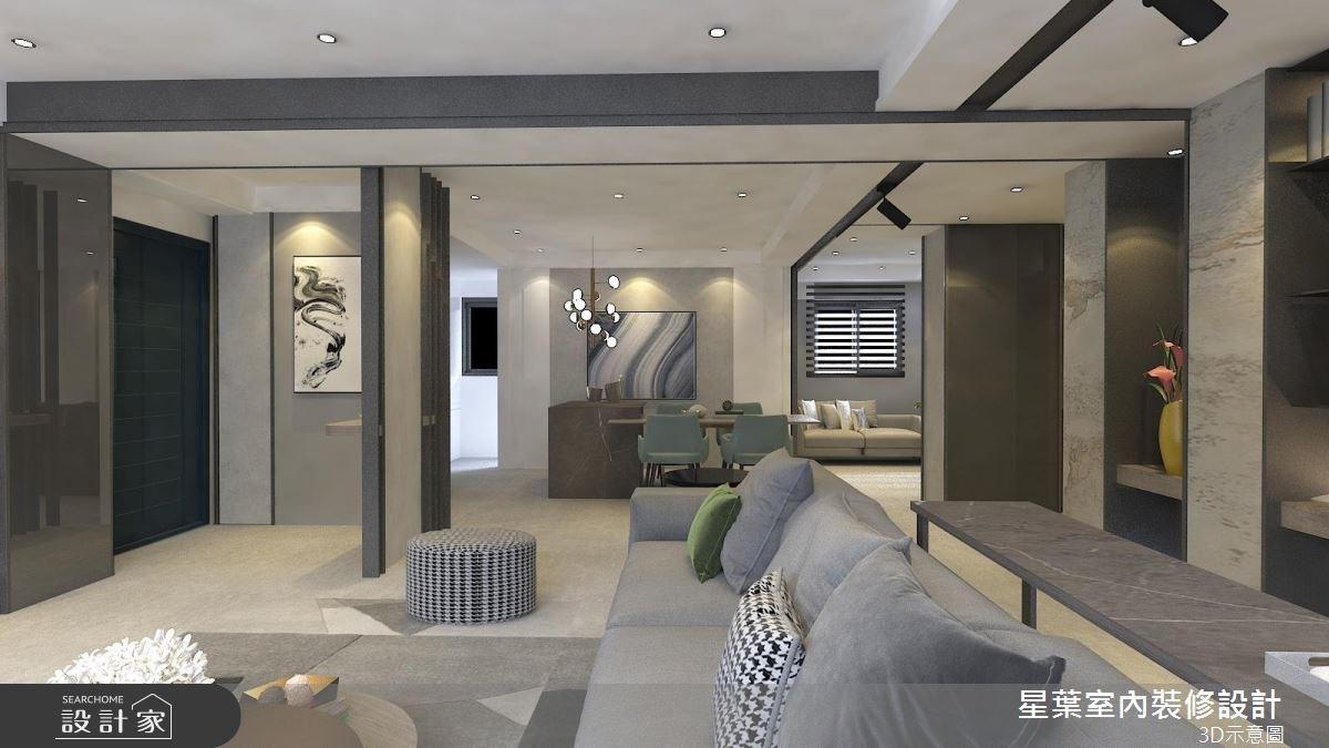 41坪老屋(16~30年)_現代風客廳案例圖片_星葉室內裝修設計_星葉_25之2