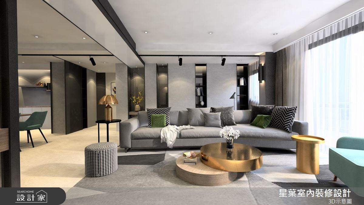 41坪老屋(16~30年)_現代風客廳案例圖片_星葉室內裝修設計_星葉_25之4