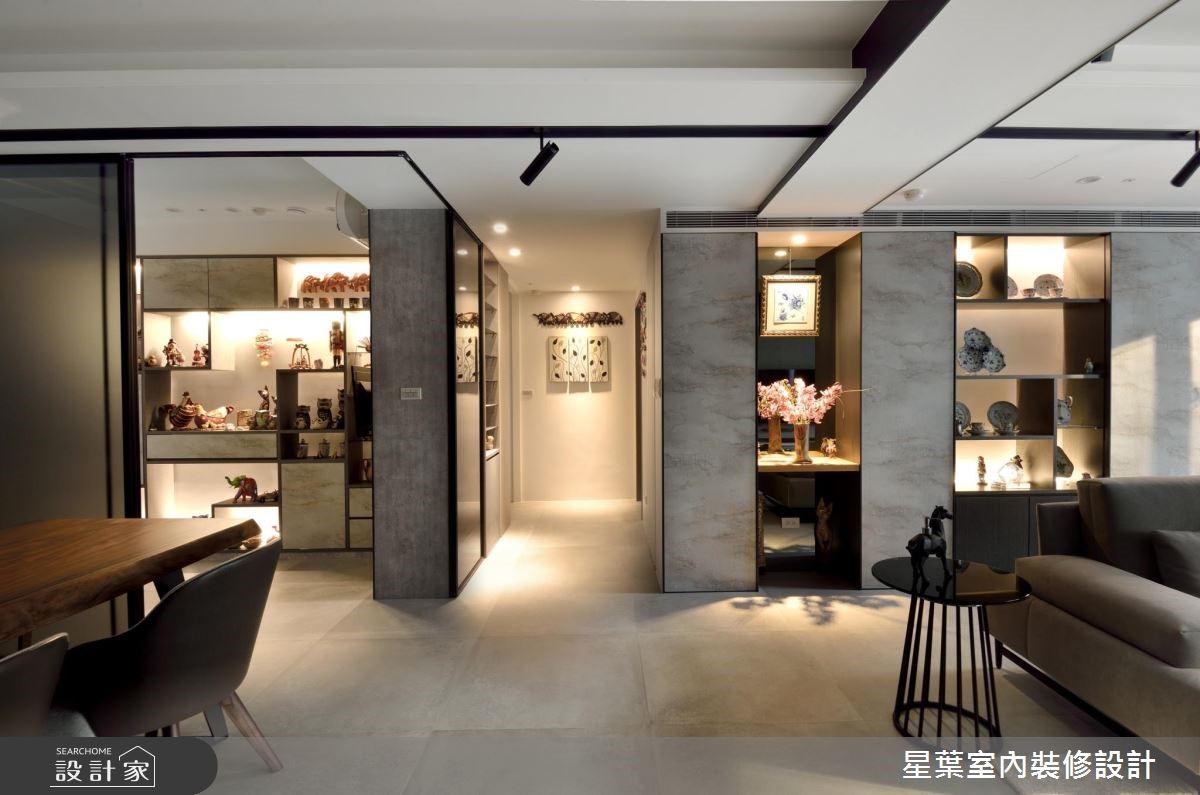 41坪老屋(16~30年)_現代風客廳餐廳走廊案例圖片_星葉室內裝修設計_星葉_28之2