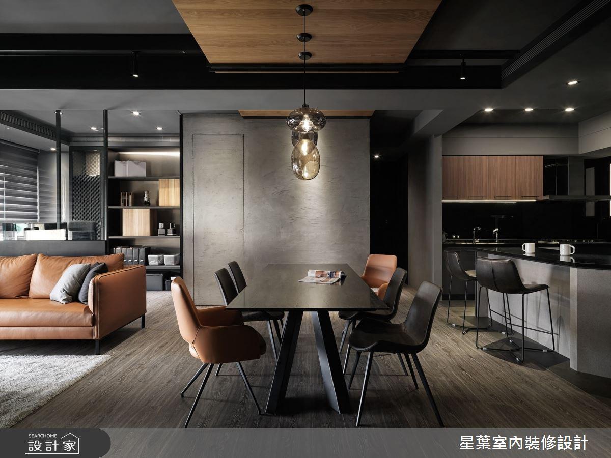 40坪新成屋(5年以下)_工業風餐廳案例圖片_星葉室內裝修設計_星葉_30之4