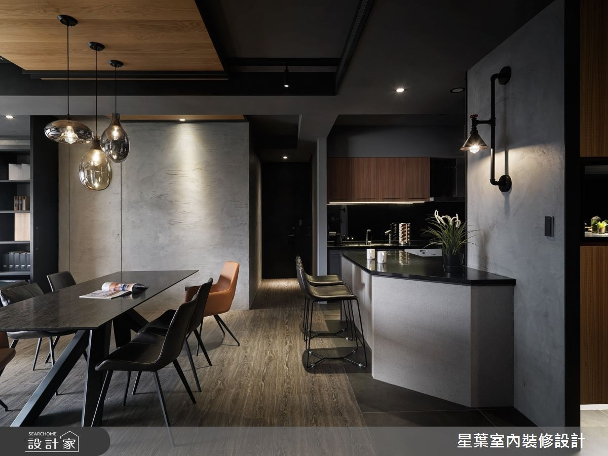 40坪新成屋(5年以下)_工業風餐廳案例圖片_星葉室內裝修設計_星葉_30之3