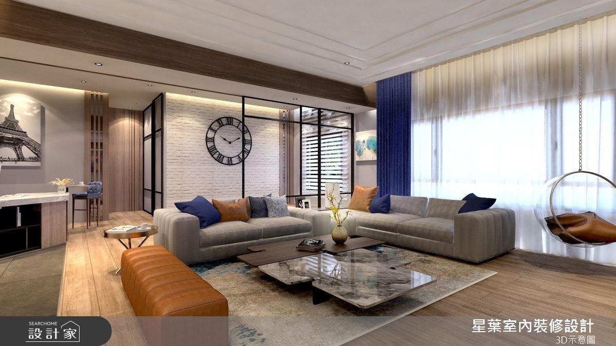 66坪中古屋(5~15年)_現代風客廳案例圖片_星葉室內裝修設計_星葉_37之3