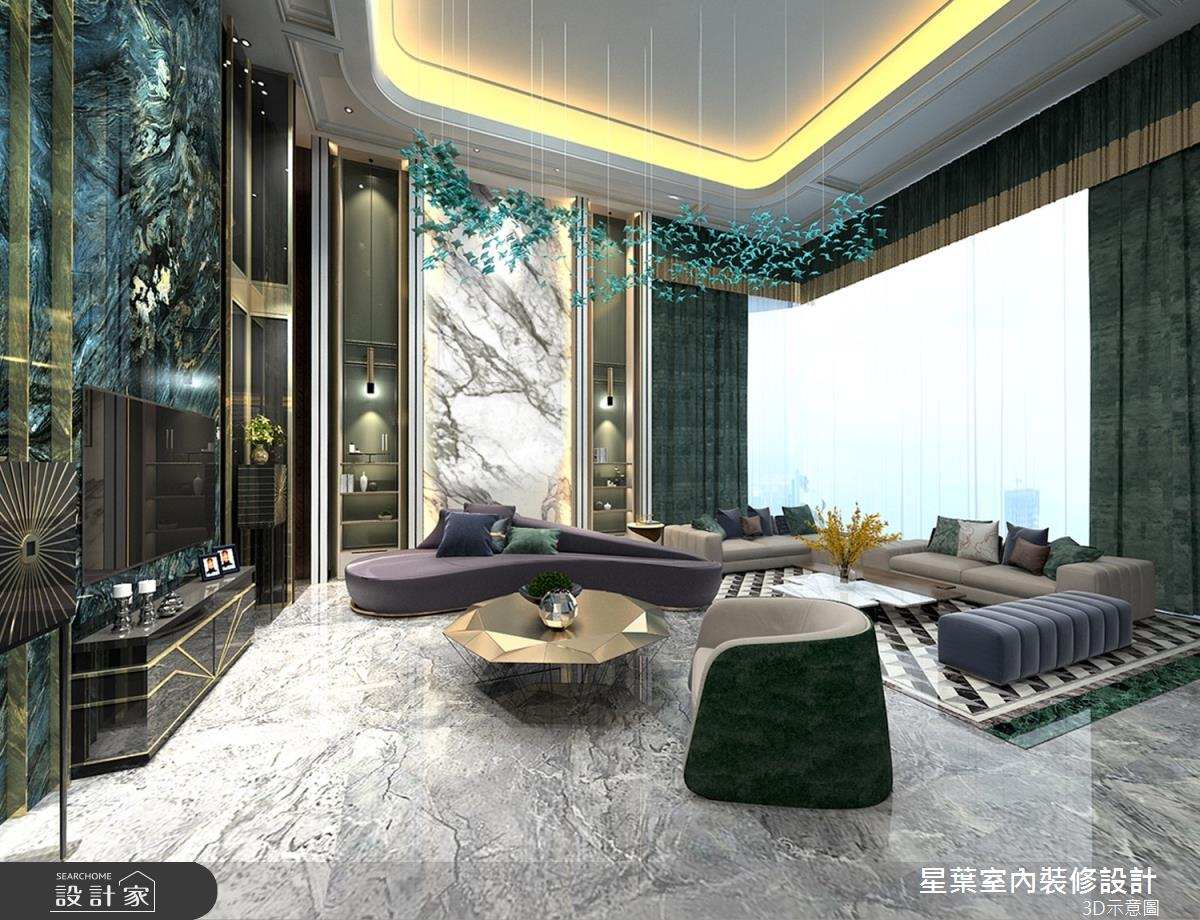 63坪新成屋(5年以下)_奢華風客廳案例圖片_星葉室內裝修設計_星葉_40之4
