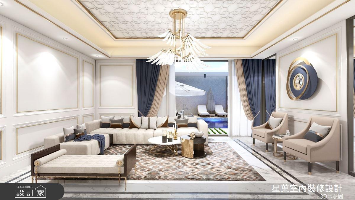 175坪新成屋(5年以下)_新古典客廳案例圖片_星葉室內裝修設計_星葉_42之3