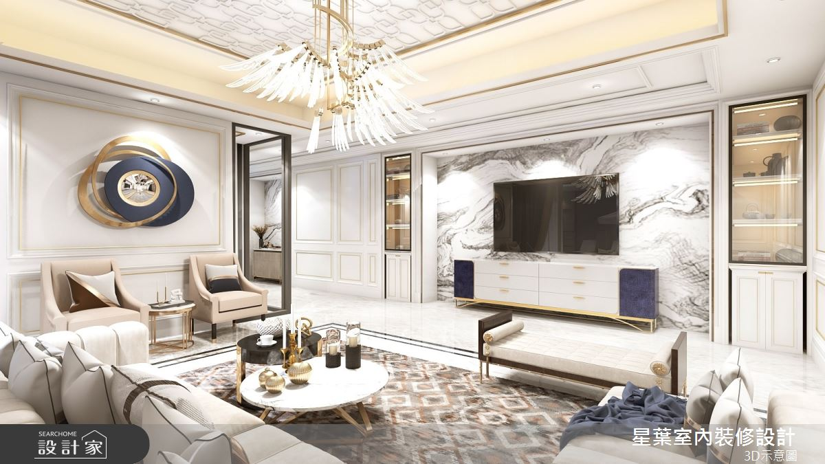 175坪新成屋(5年以下)_新古典客廳案例圖片_星葉室內裝修設計_星葉_42之4