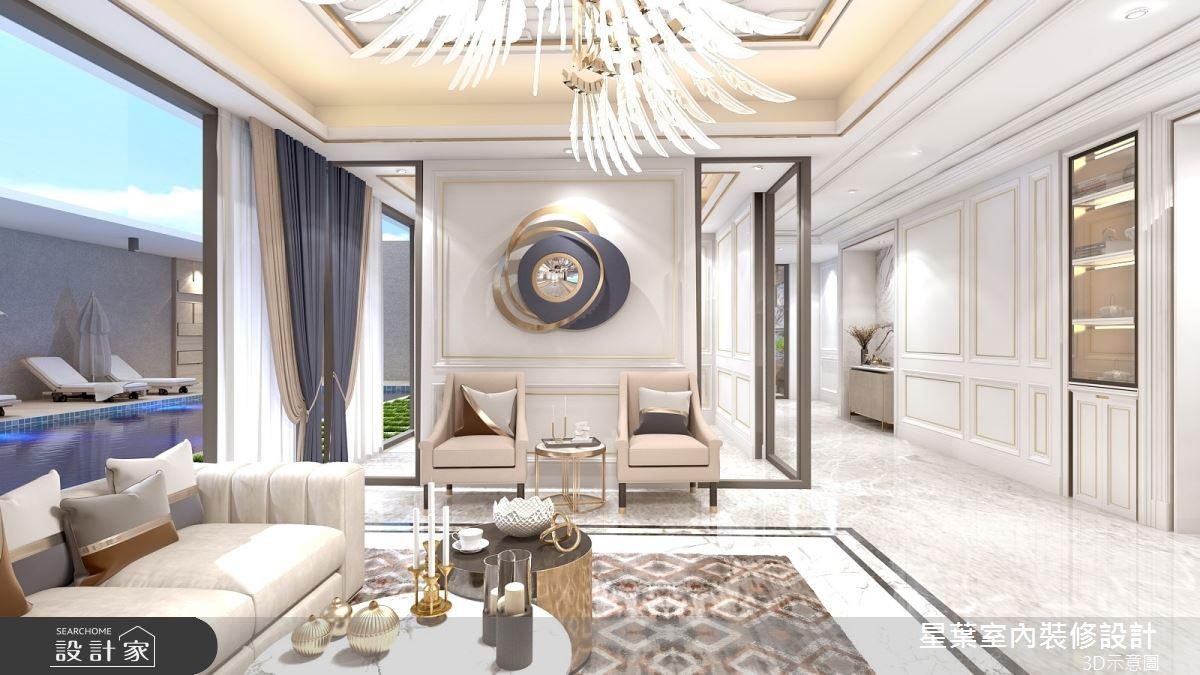 175坪新成屋(5年以下)_新古典客廳案例圖片_星葉室內裝修設計_星葉_42之5