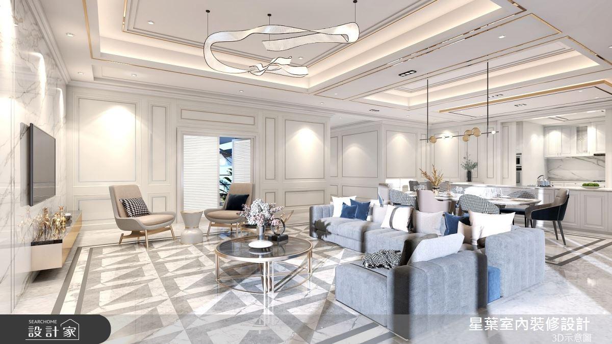 175坪新成屋(5年以下)_新古典客廳案例圖片_星葉室內裝修設計_星葉_42之6