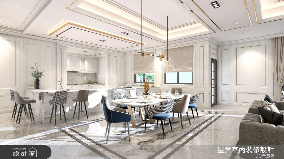 175坪新成屋(5年以下)_新古典餐廳案例圖片_星葉室內裝修設計_星葉_42之7