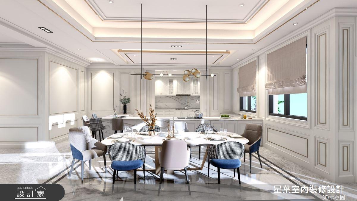 175坪新成屋(5年以下)_新古典餐廳案例圖片_星葉室內裝修設計_星葉_42之9
