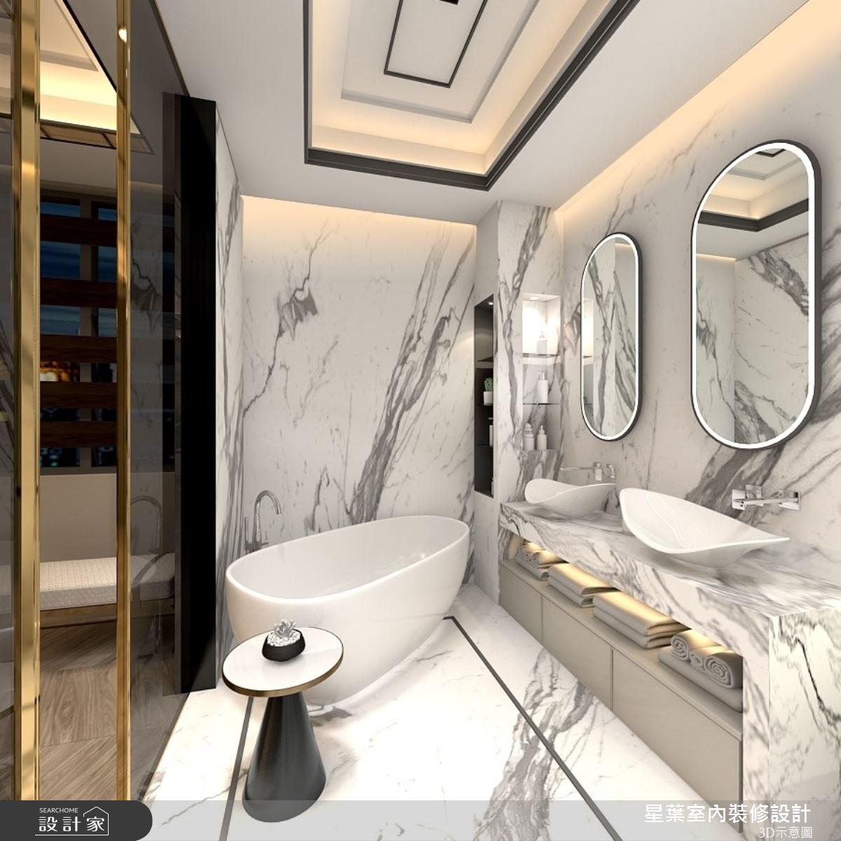 175坪新成屋(5年以下)_新古典浴室案例圖片_星葉室內裝修設計_星葉_42之13