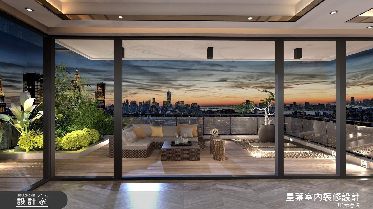 175坪新成屋(5年以下)_新古典陽台案例圖片_星葉室內裝修設計_星葉_42之15