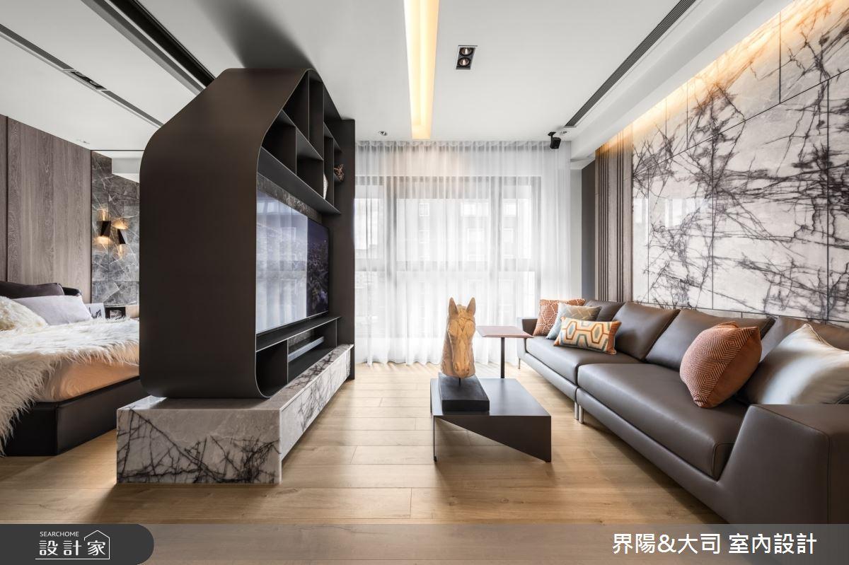 16坪新成屋(5年以下)_現代風客廳案例圖片_界陽&大司 室內設計_界陽_26之2