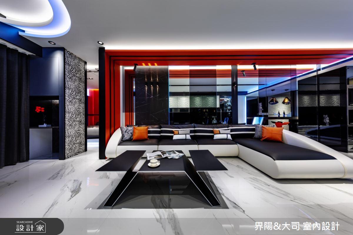 32坪新成屋(5年以下)_現代風客廳案例圖片_界陽&大司 室內設計_界陽_27之2