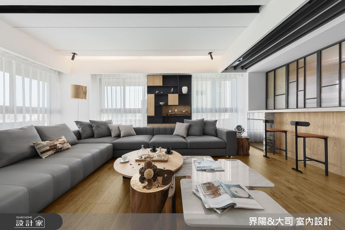39坪新成屋(5年以下)_現代風客廳案例圖片_界陽&大司 室內設計_界陽_31之4