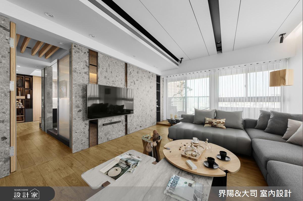 39坪新成屋(5年以下)_現代風客廳案例圖片_界陽&大司 室內設計_界陽_31之2
