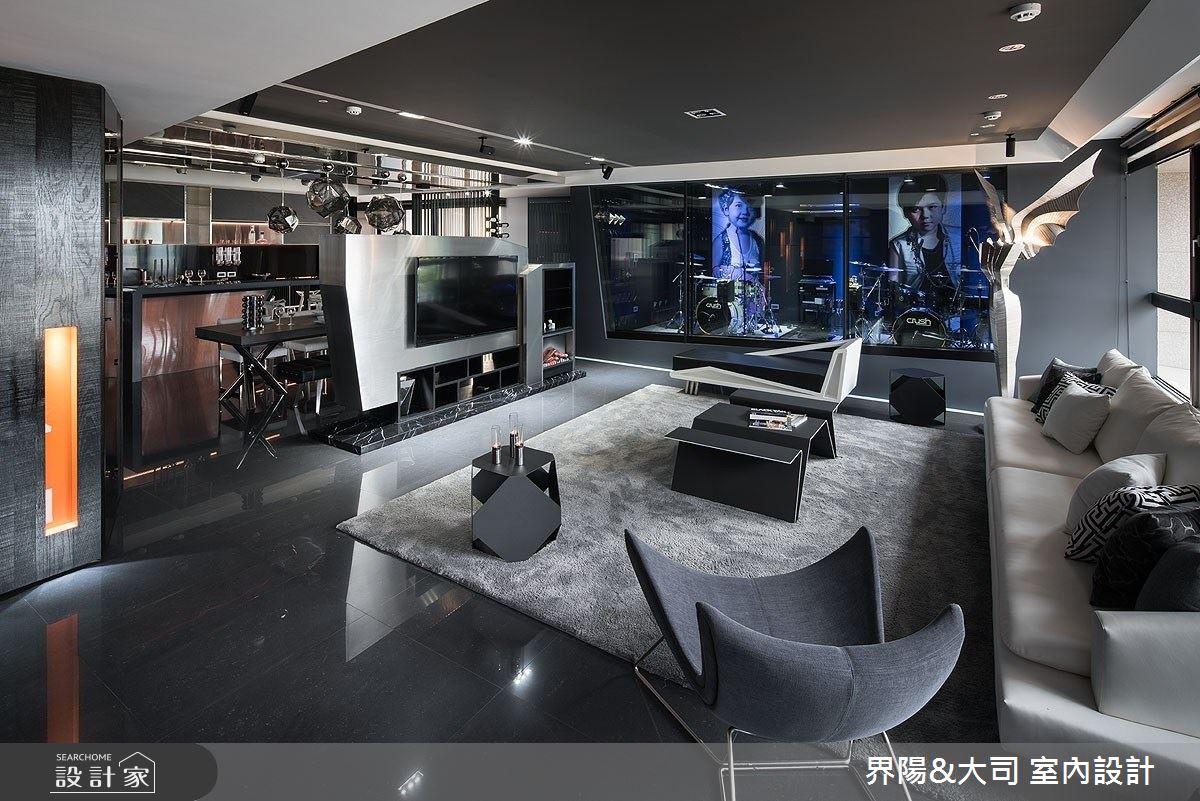 77坪新成屋(5年以下)_現代風客廳案例圖片_界陽&大司 室內設計_界陽_33之4