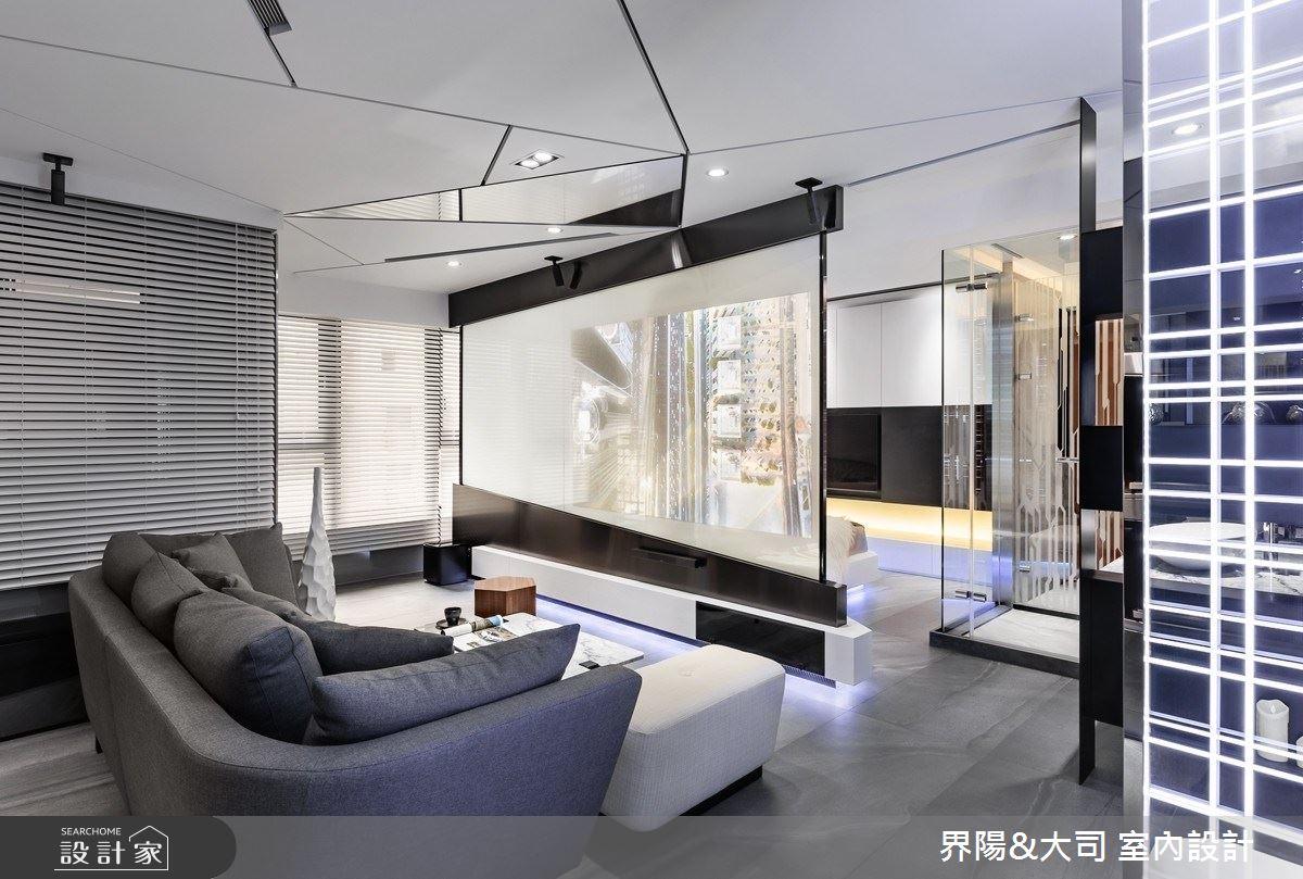 16坪新成屋(5年以下)_現代風客廳案例圖片_界陽&大司 室內設計_界陽_34之3