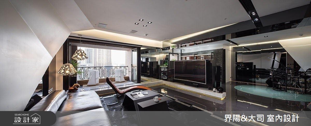 62坪新成屋(5年以下)_現代風客廳案例圖片_界陽&大司 室內設計_界陽_35之2