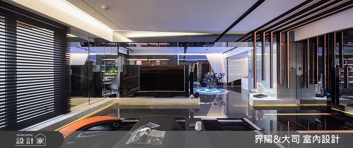 62坪新成屋(5年以下)_現代風客廳案例圖片_界陽&大司 室內設計_界陽_35之3