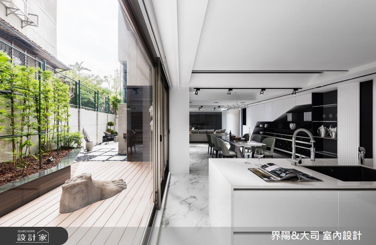 96坪老屋(16~30年)_現代風餐廳中島案例圖片_界陽&大司 室內設計_界陽_37之4