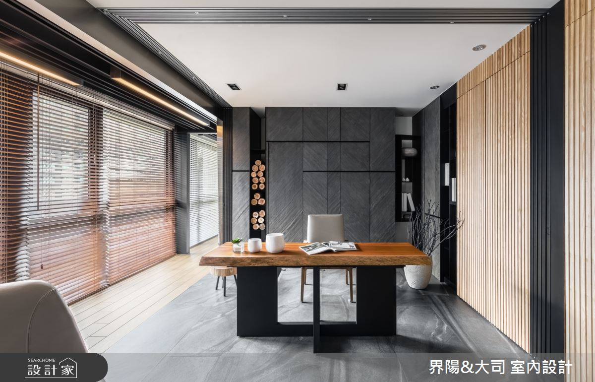 74坪新成屋(5年以下)_現代風書房案例圖片_界陽&大司 室內設計_界陽_40之2