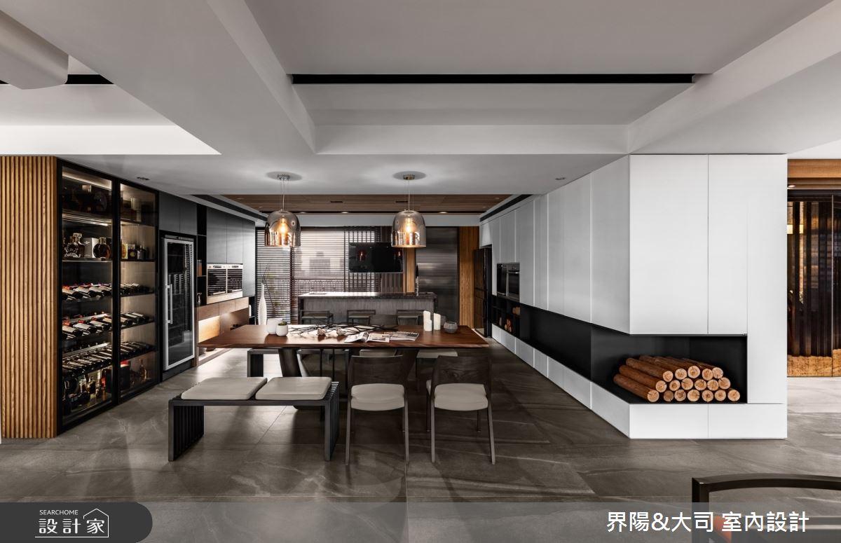 103坪新成屋(5年以下)_現代風餐廳中島案例圖片_界陽&大司 室內設計_界陽_42之2