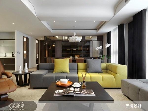 60坪新成屋(5年以下)_新古典客廳案例圖片_天境空間設計_天境_16之3