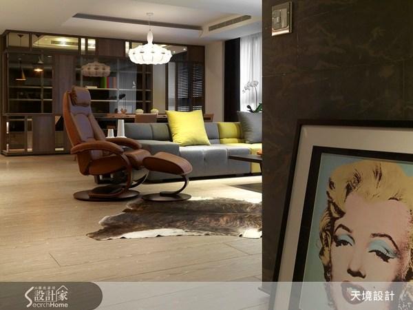 60坪新成屋(5年以下)_新古典客廳案例圖片_天境空間設計_天境_16之2