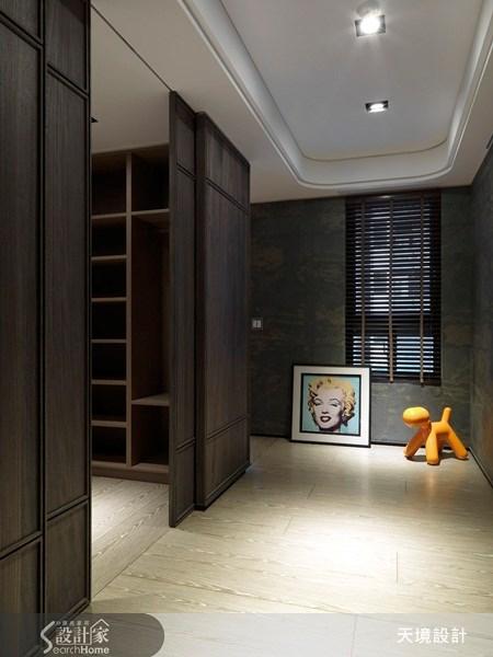 60坪新成屋(5年以下)_新古典玄關案例圖片_天境空間設計_天境_16之1
