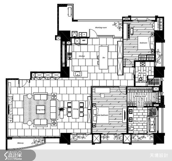 60坪新成屋(5年以下)_奢華風案例圖片_天境空間設計_天境_27之19