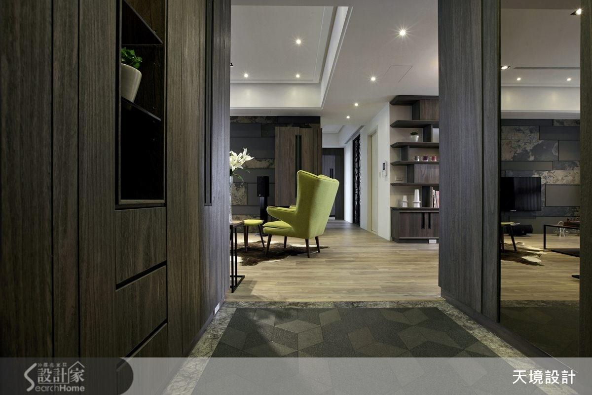 41坪新成屋(5年以下)_現代風走廊案例圖片_天境空間設計_天境_28之1