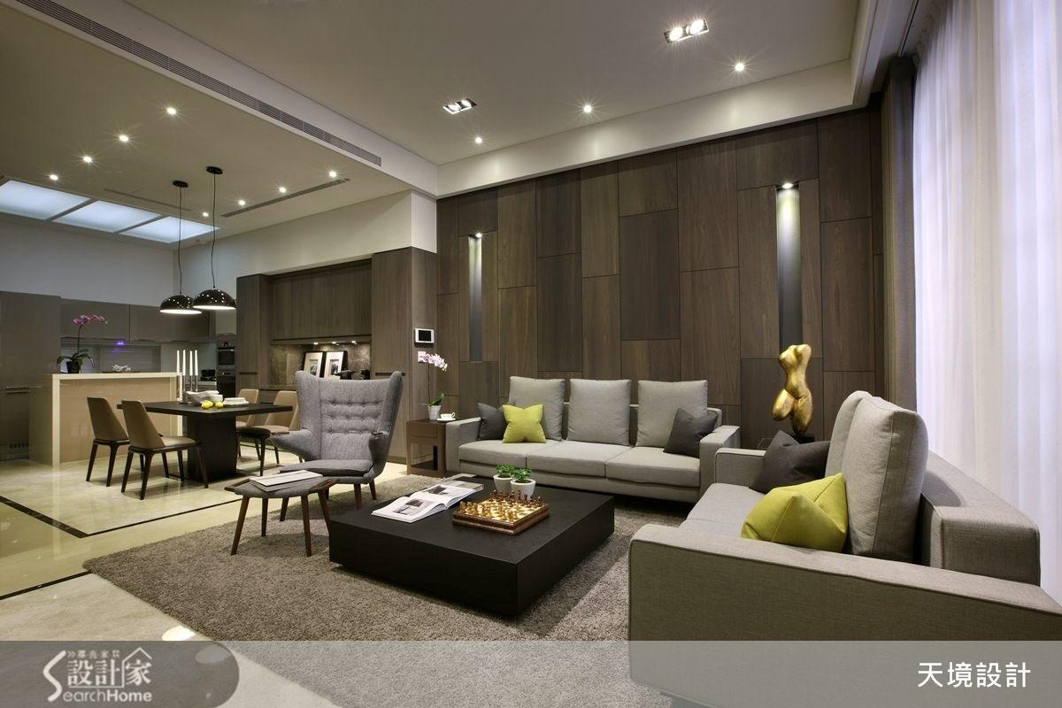 98坪新成屋(5年以下)_奢華風客廳案例圖片_天境空間設計_天境_29之2