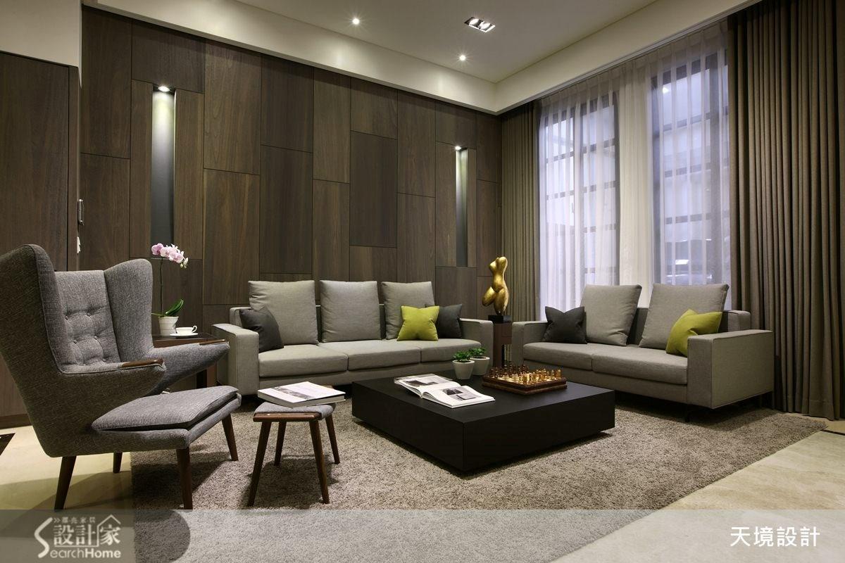 98坪新成屋(5年以下)_奢華風客廳案例圖片_天境空間設計_天境_29之5