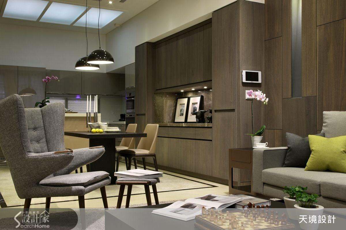 98坪新成屋(5年以下)_奢華風客廳案例圖片_天境空間設計_天境_29之3