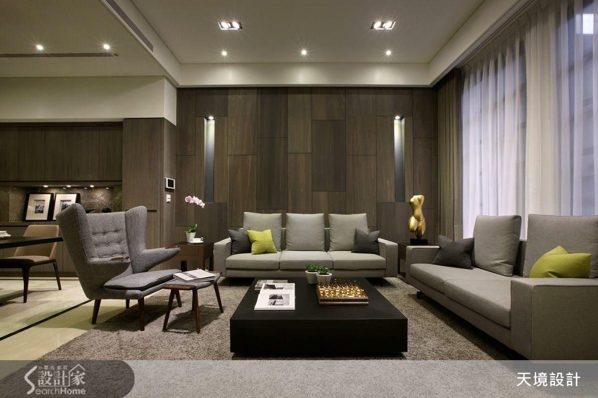 98坪新成屋(5年以下)_奢華風客廳案例圖片_天境空間設計_天境_29之4
