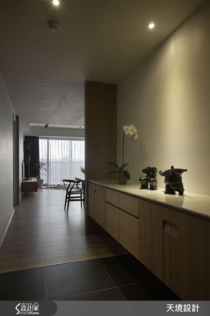 55坪新成屋(5年以下)_簡約風走廊案例圖片_天境空間設計_天境_30之1