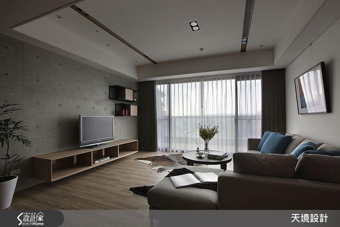 55坪新成屋(5年以下)_簡約風客廳案例圖片_天境空間設計_天境_30之2