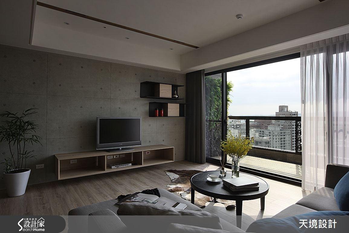 55坪新成屋(5年以下)_簡約風客廳案例圖片_天境空間設計_天境_30之3