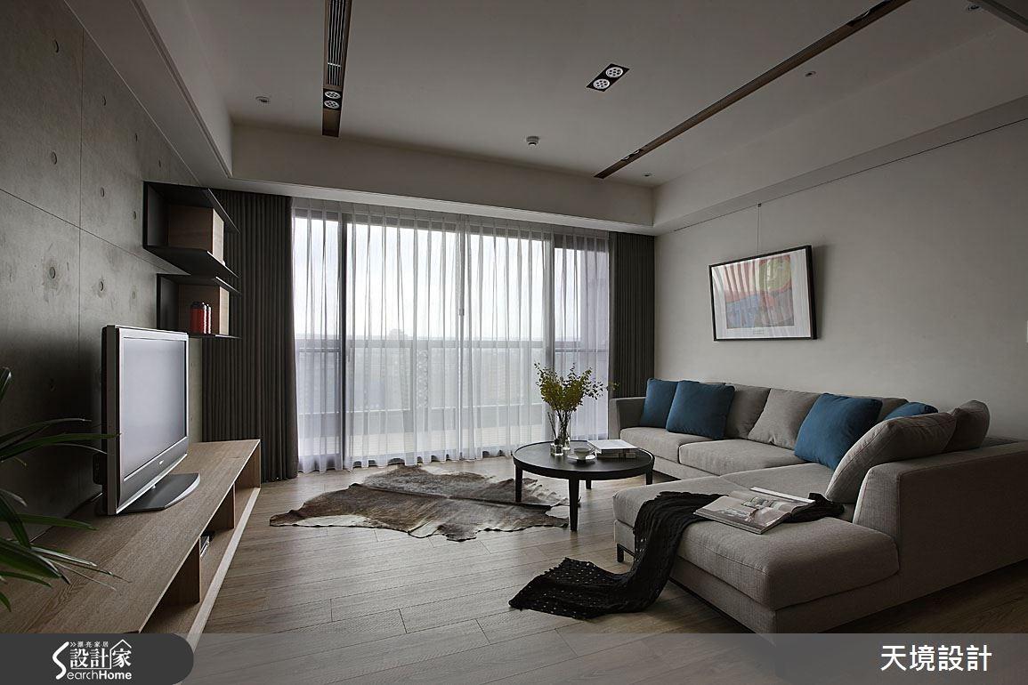 55坪新成屋(5年以下)_簡約風客廳案例圖片_天境空間設計_天境_30之4