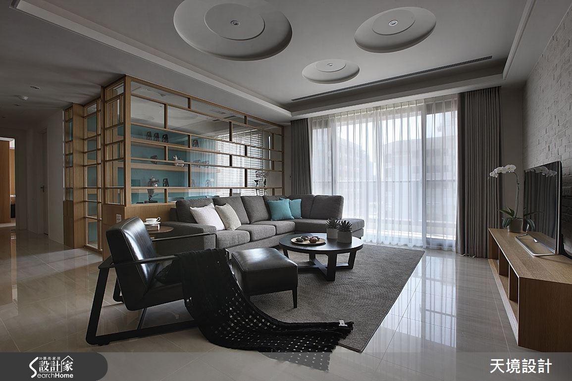 45坪新成屋(5年以下)_北歐風客廳案例圖片_天境空間設計_天境_31之3
