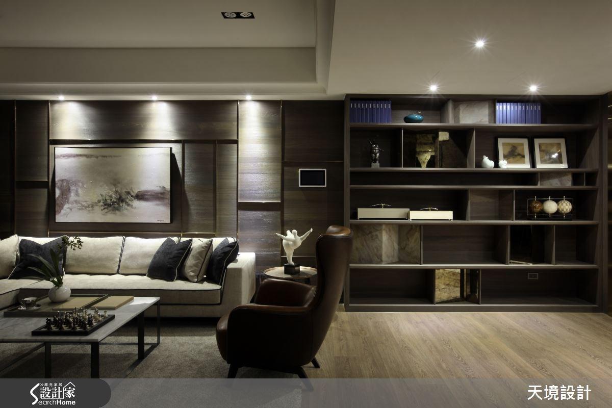 50坪新成屋(5年以下)_奢華風客廳案例圖片_天境空間設計_天境_34之4