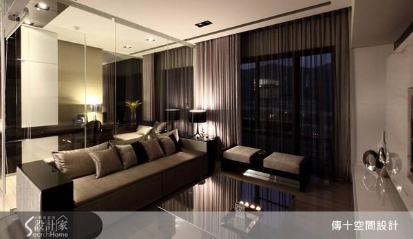 25坪新成屋(5年以下)_奢華風客廳案例圖片_傳十空間設計_傳十_06之3