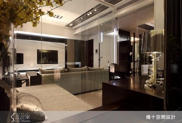 25坪新成屋(5年以下)_奢華風客廳案例圖片_傳十空間設計_傳十_06之4