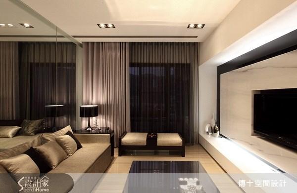 25坪新成屋(5年以下)_奢華風客廳案例圖片_傳十空間設計_傳十_06之2