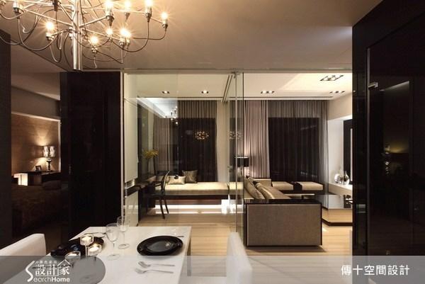 25坪新成屋(5年以下)_奢華風客廳案例圖片_傳十空間設計_傳十_06之1