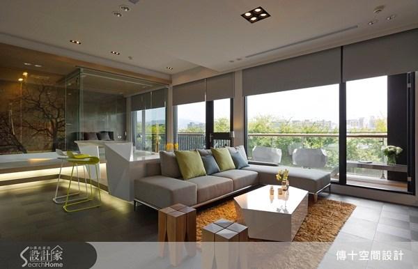 30坪新成屋(5年以下)_休閒風客廳案例圖片_傳十空間設計_傳十_07之1