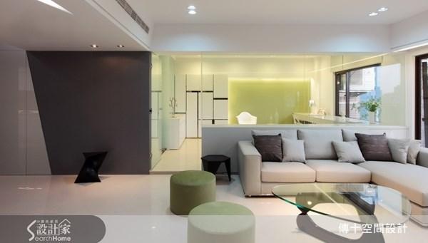 42坪新成屋(5年以下)_簡約風客廳案例圖片_傳十空間設計_傳十_08之2