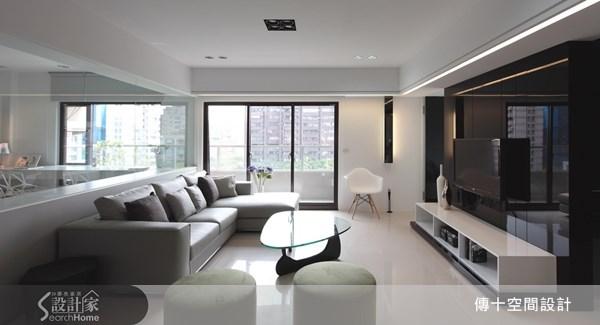 42坪新成屋(5年以下)_簡約風客廳案例圖片_傳十空間設計_傳十_08之1