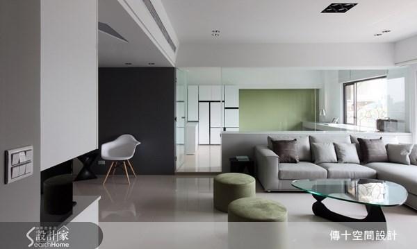 42坪新成屋(5年以下)_簡約風客廳案例圖片_傳十空間設計_傳十_08之3